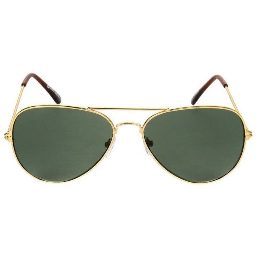 Green Aviator Golden Sunglass By Men