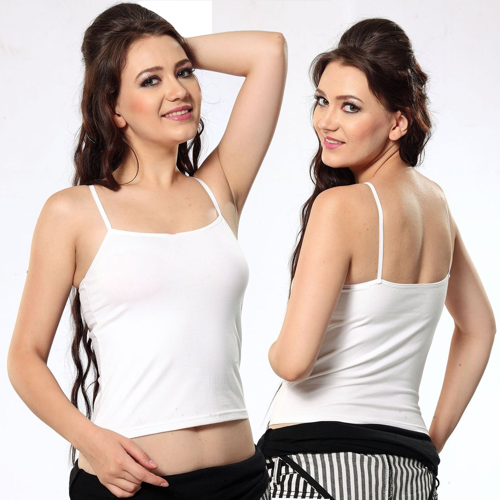 Women Stretchable Cotton Camisole with Thin Straps-50