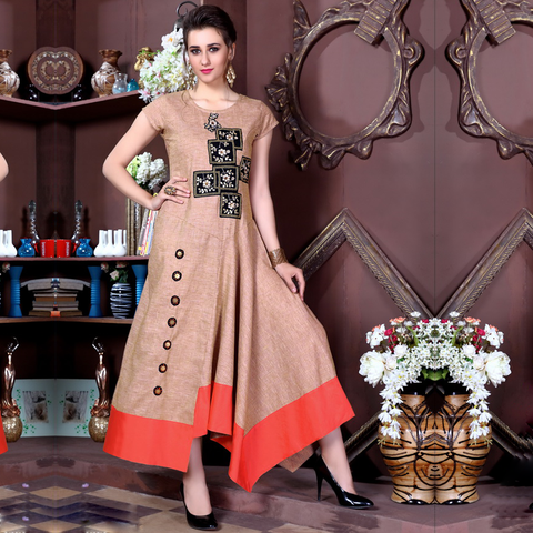 Extremely Beauteous Long Ankle Length Kurtis - Chahat 902