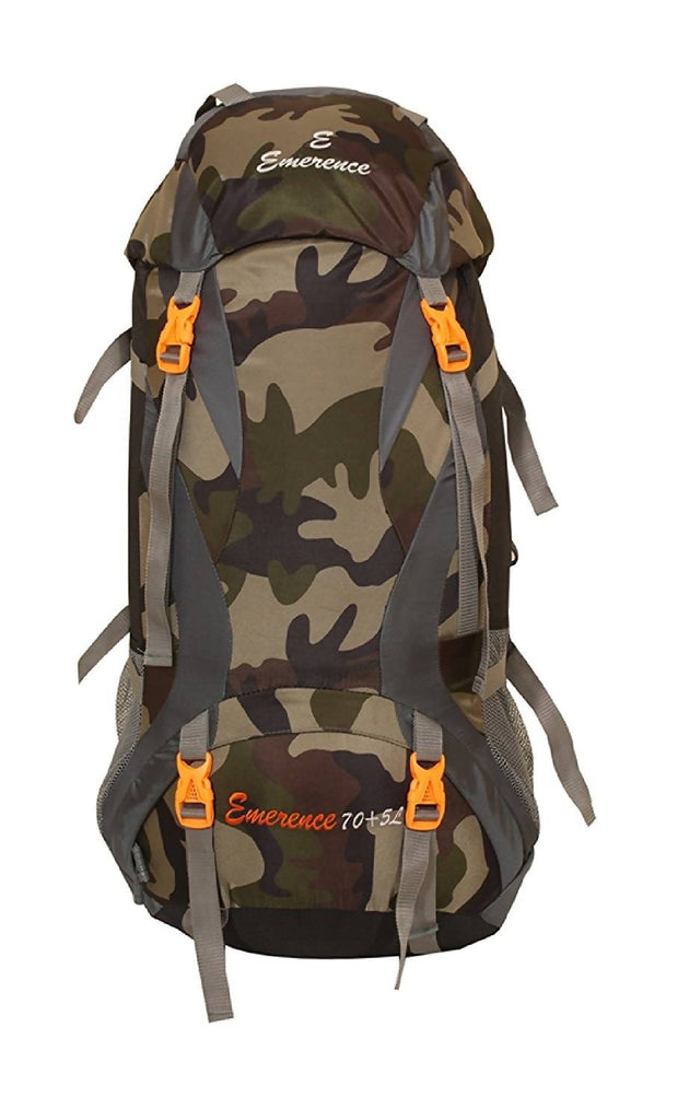 Emerence 1023 Rucksack, Hiking Backpack 75Lts (Camouflage) With Rain Cover and Laptop Compartment