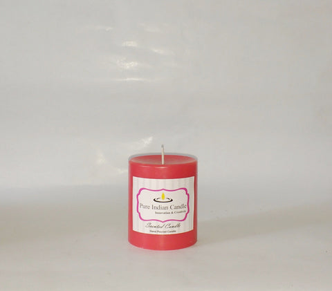 Apple and Vanilla Handmade Scented Pillar Candle PIC007
