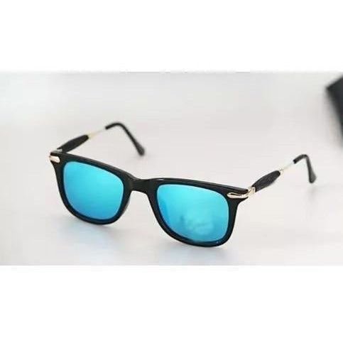 Sunglasses Aqua Blue Square Frame Goggles For Men