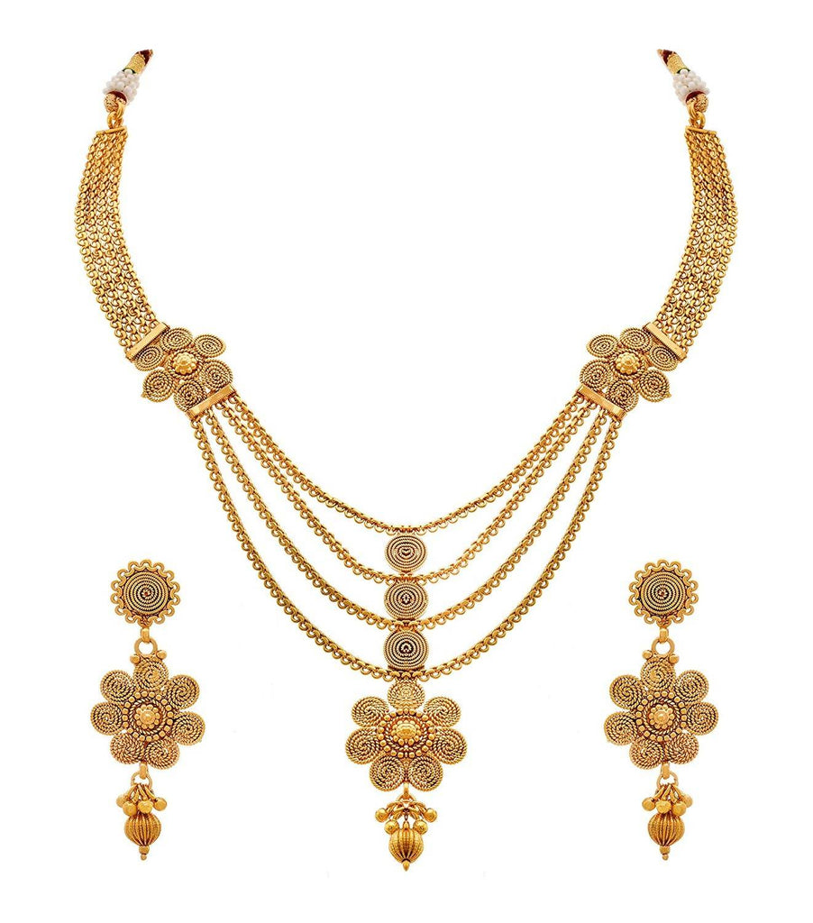 JFL - Jewellery for Less Gold plated Necklace Set for Women