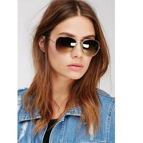 Brown Aviator Sunglasses For Women