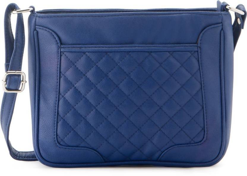 Falah Bag Works Women Casual Blue PU Sling Bag