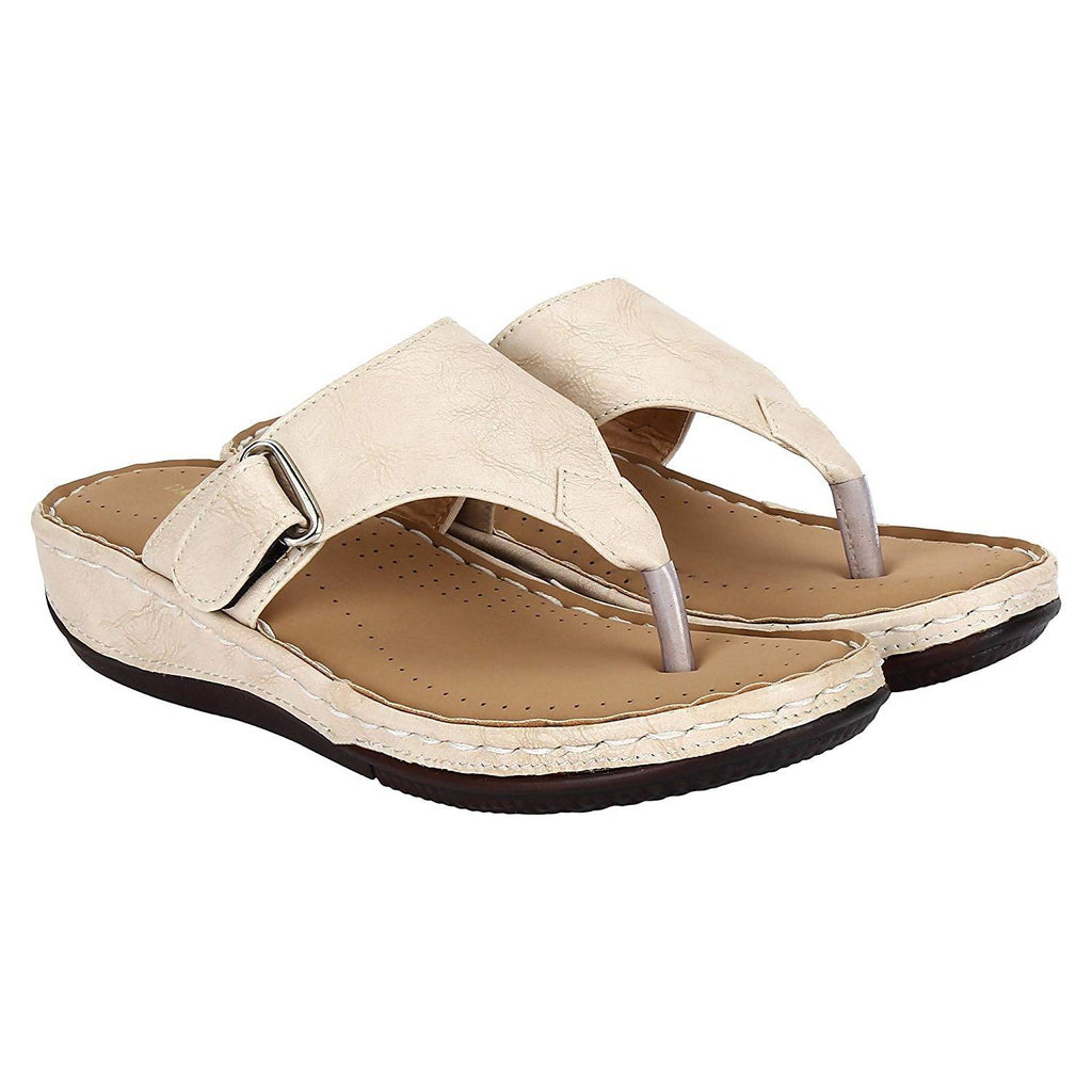 DAMEN MODE Women Cream Casual Ortho Doctor Slipper