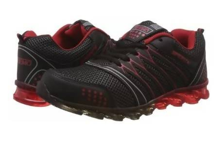 Xylus Footwear New Premium Black and Red Men's Sports Shoes