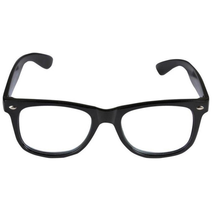 Clear Wayfarer Black Sunglass By Men
