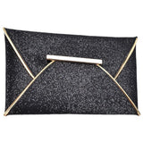 Dark Grey handbag luxury shiny envelope clutch bag glitter ladies hand bags wedding bags for women evening party