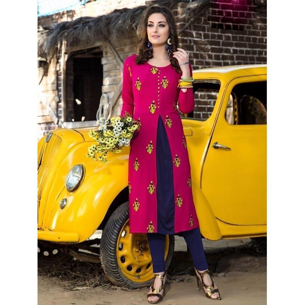 Sweet and Elegant Party Wear Aroma Rayon Kurtis