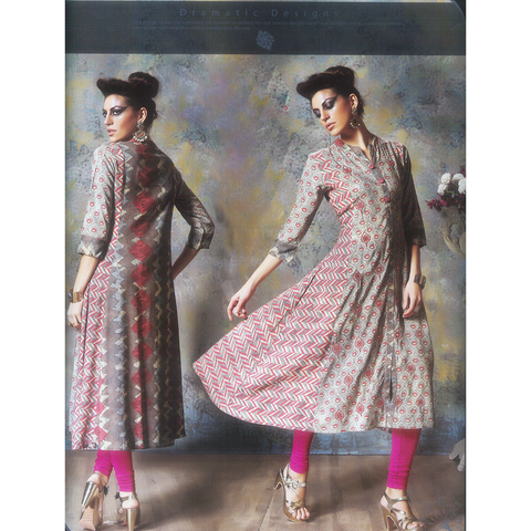 Exotic Rayon Full Sleeves Anarkali Kurtis for Casual Wear