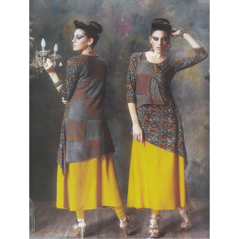 Beauteous and Elegant 3/4th Quarters Designer Kurtis for Merry Wear