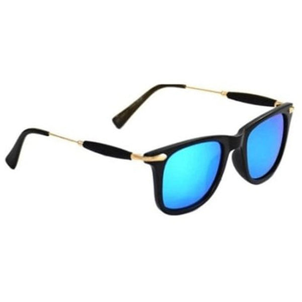 Aqua Blue square Golden Sunglass By Men