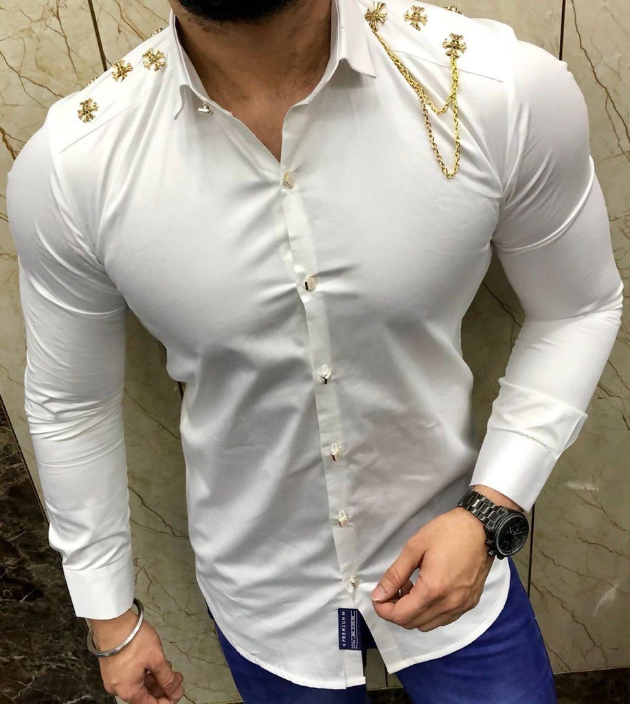 Fashion Fear Full Sleeeves mens Designer party Wear shirts