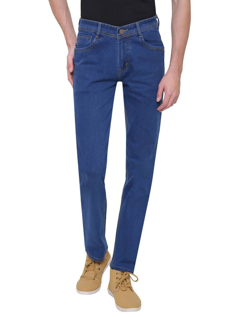 Gradely Men's Regular Fit Blue Jeans