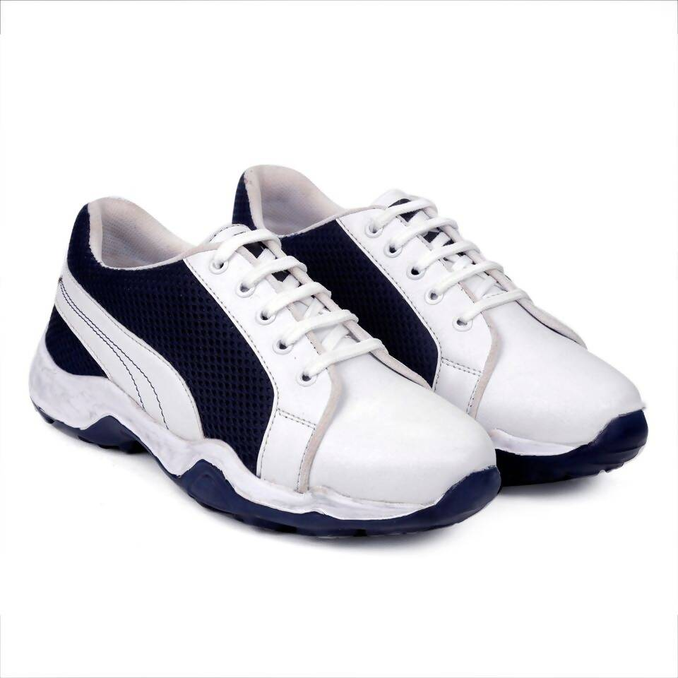 Rvy Men's White Black Sports Shoes