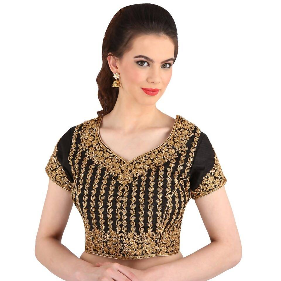 Melluha Net Stitched Customizable Blouse with Santoon Inner and sleeves
