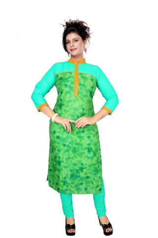 State Green Kurtis Quality Cotton Cambric Print