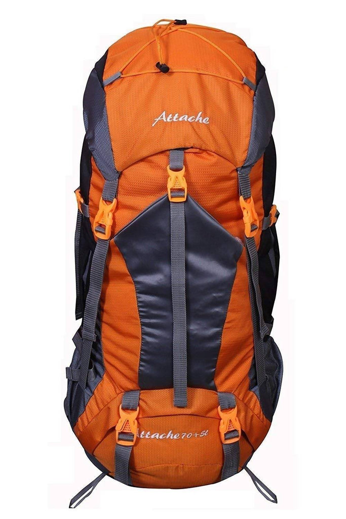 Attache 1025R Rucksack, Hiking Backpack 75Lts (Orange) with Rain Cover