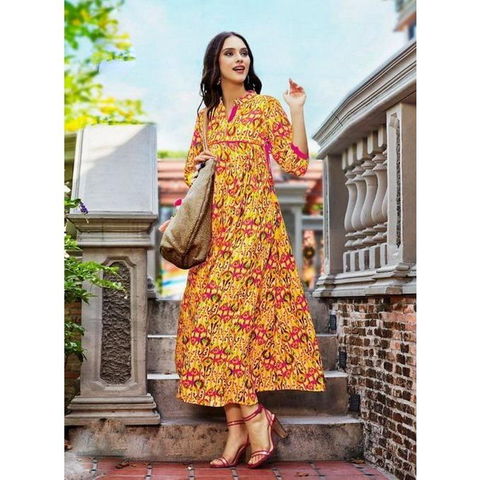 Kajal Fashion Galleria Rayon Kurtis-4008
