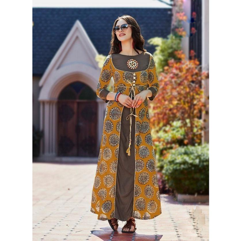 Kajal Fashion Galleria Rayon Kurtis-4009