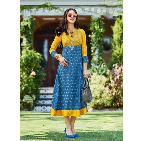 Kajal Fashion Galleria Rayon Kurtis-4001