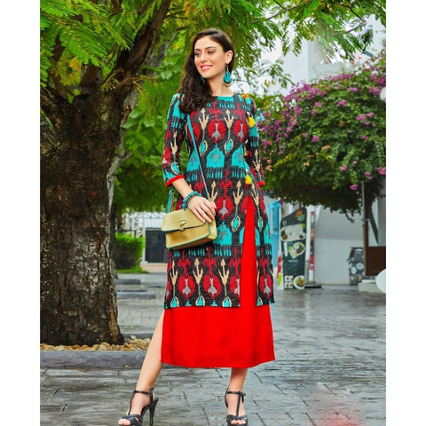 Fashionable Long Kurtis for Party Wear Kajal Style Fashion Adiba-1009