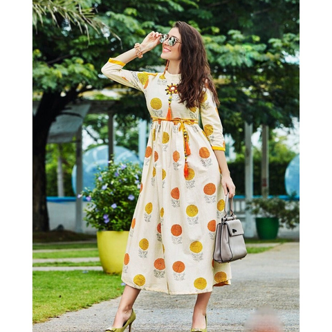 Fashionable Long Kurtis for Party Wear Kajal Style Fashion Adiba-1010
