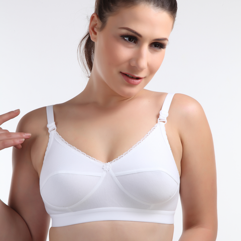 Cotton Plain Hosiery C cup Bra