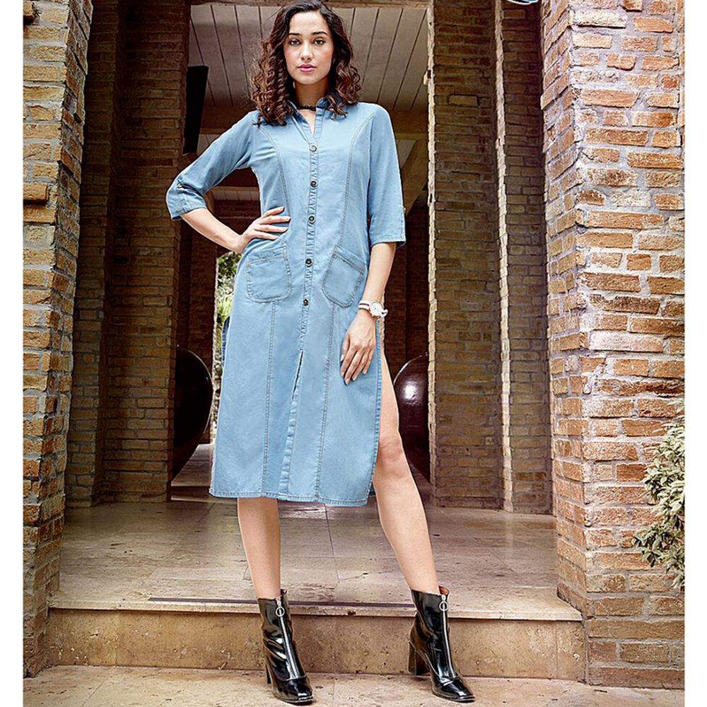 Kumb-X by Sparrow 1133 Designer Beautiful Colorful Fancy Stylish Party Wear & Ethnic Wear Cotton Denim Kurtis