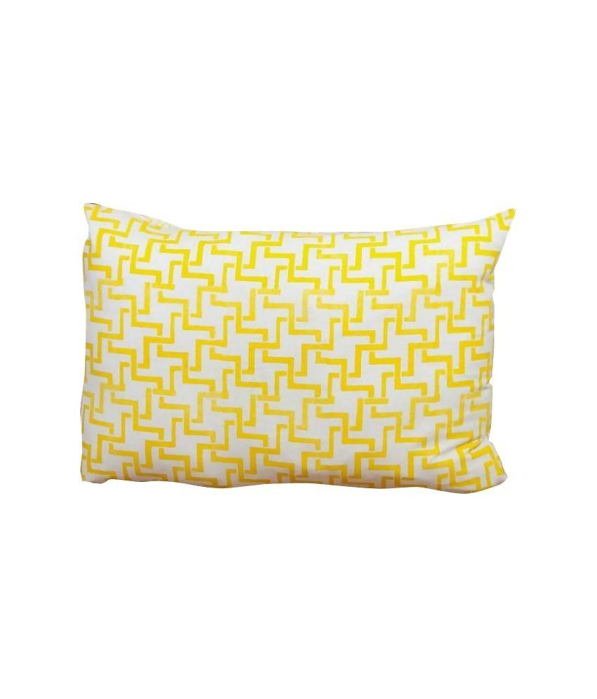 MYYRA Yellow Cotton Pillow Cover