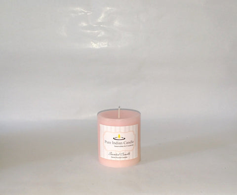 Water flower and Vanilla Handmade Scented Pillar Candle PIC008