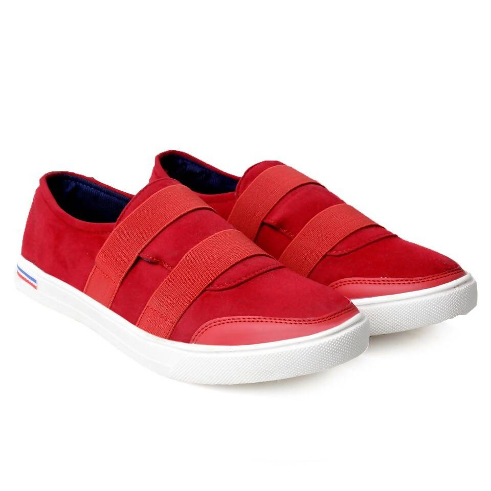 Rvy Men's Red lace-up Smart Casual