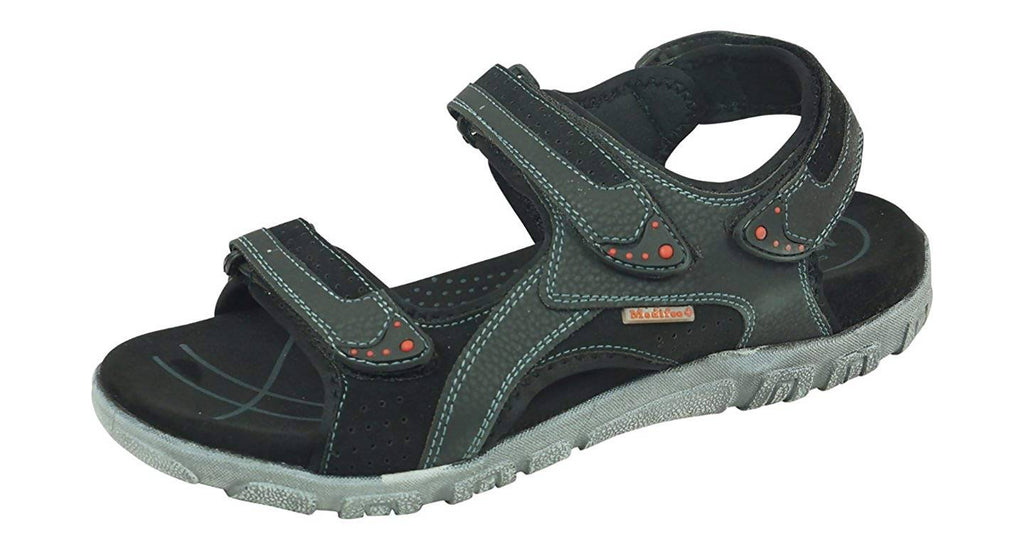 MEDIFEET Men's Leather Floaters