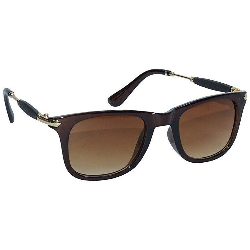 Brown square Golden Sunglass By Men