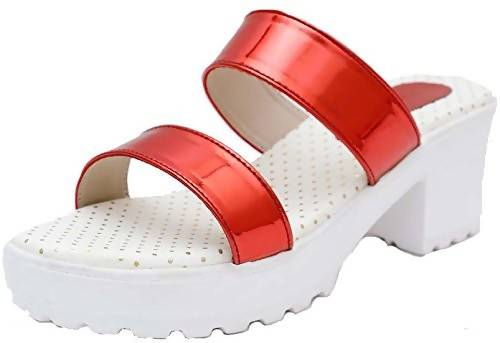 Foot Wagon Heels for Girls | Block Heels Shoes for Women| Wedges for Women |Heels |White Sandals | Ladies Sandal |Red Sandal |Women Flats | Ladies Slippers |Girls Slippers | Red |heels |White| Chappals