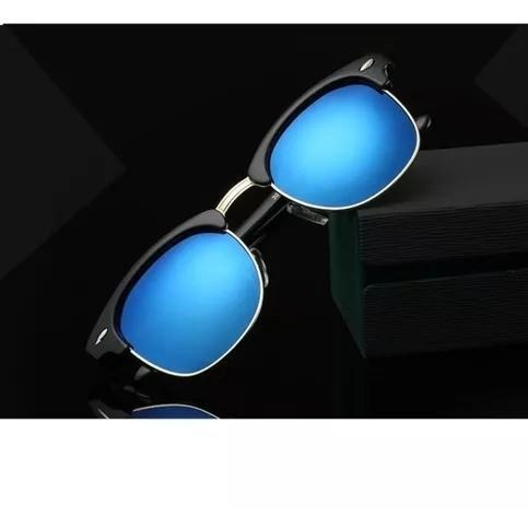 Blue Mercury Club Master Sunglasses For Men