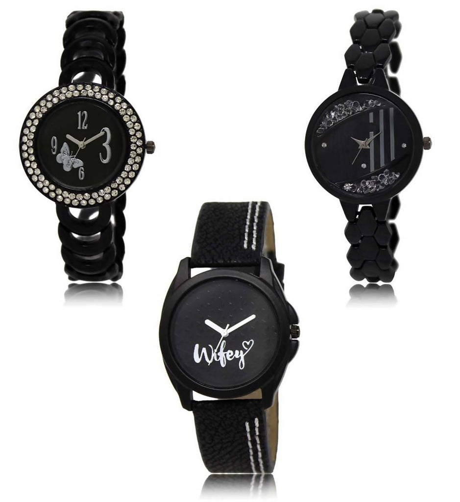Viceroy Enterprise Festival Special Collection Multi color Round Dial Women's Watch (Combo of 3 Watches)