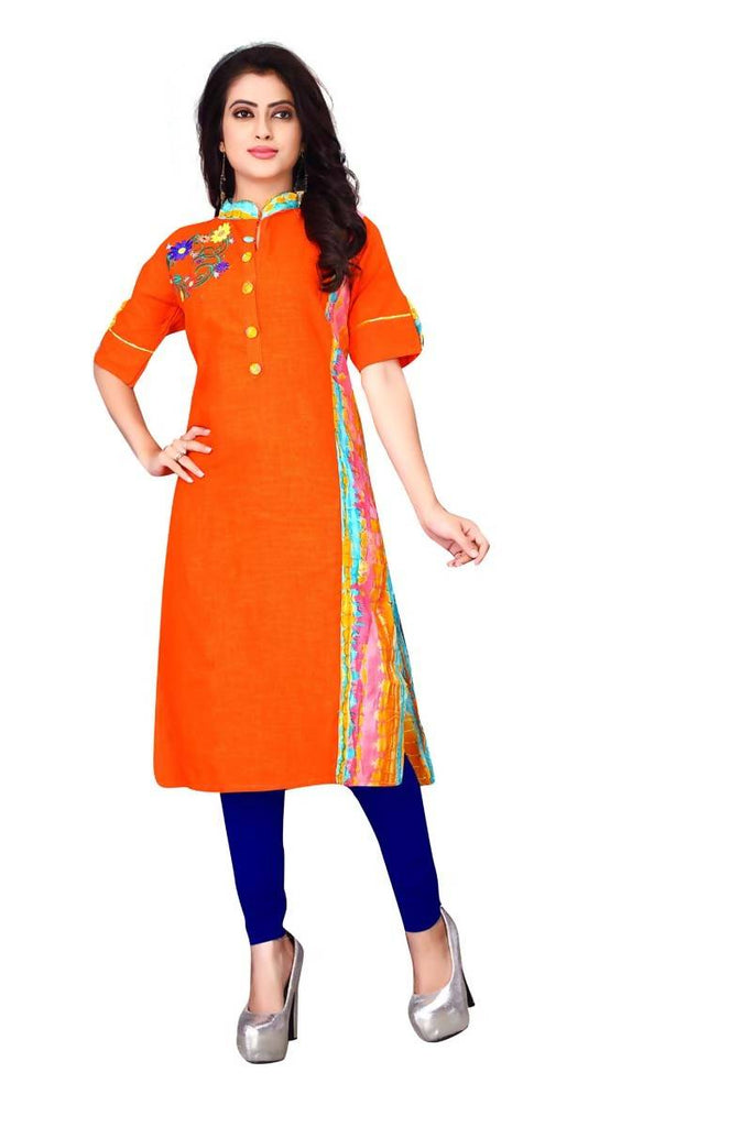Reeva Trendz Women's Dress Orenge Kurti