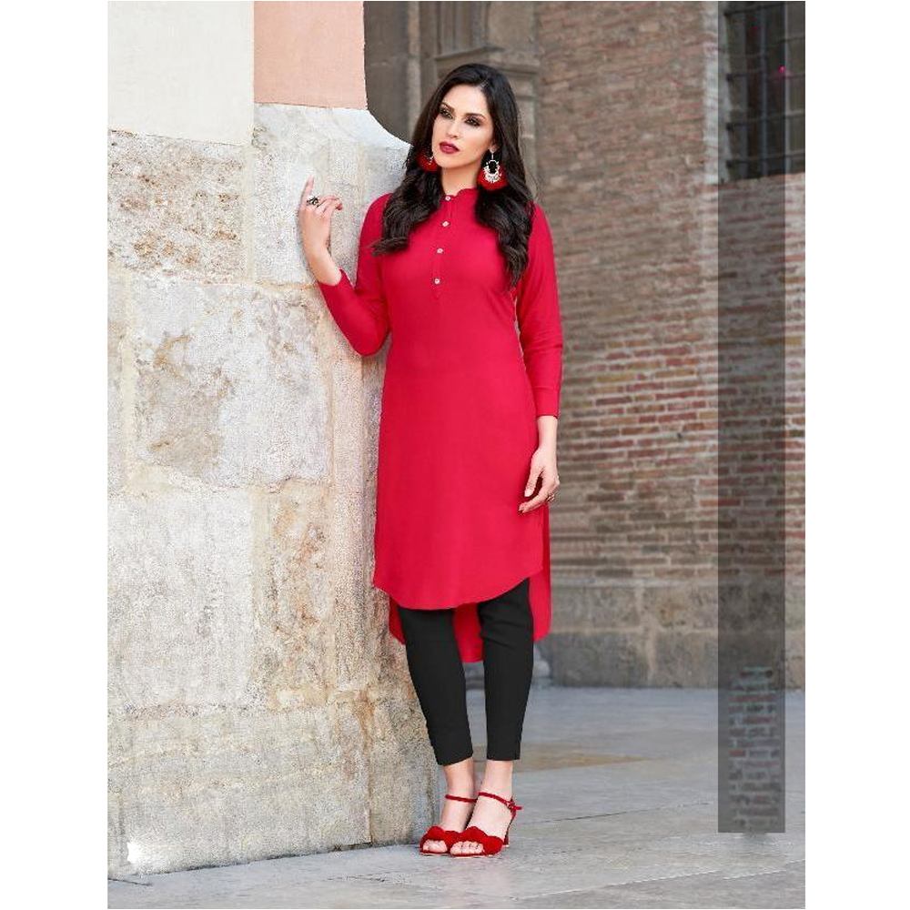 Miami 21 Beautiful Stylish Colorful Fancy Ethnic Wear & Casual Wear Rayon Kurtis