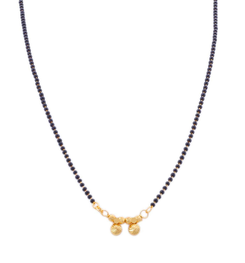 BFC- Buy For Change Maharashtrian Style Gold Plated Black Bead Chain Mangalsutra For Women