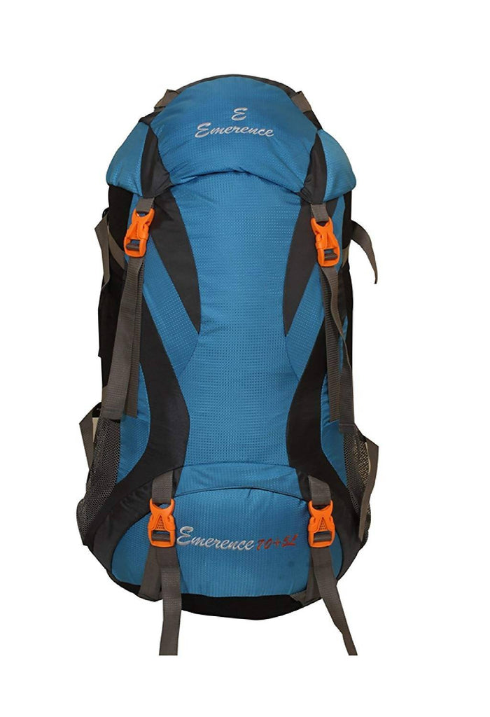 Emerence 1023 Rucksack, Hiking Backpack 75Lts (Sky Blue ) With Rain Cover and Laptop Compartment