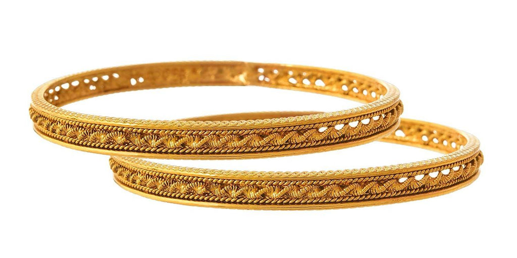 JFL - Traditional Ethnic One Gram Gold Plated Designer Bangle for Women & Girls.