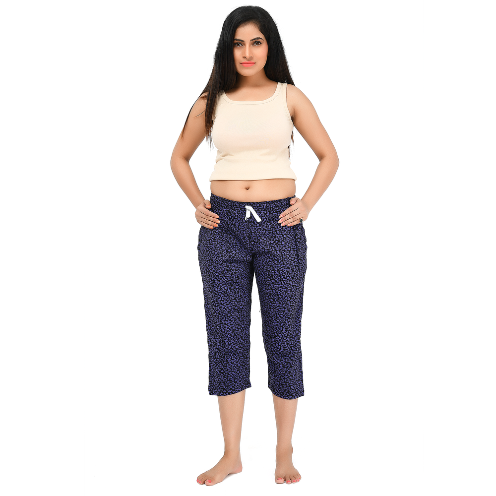 Adjustable Cotton Hosiery Wear Three Quarter Capris- PCB