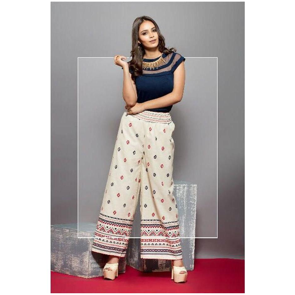 Psyna Stylish Colorful Palazzos for Ladies