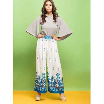 Psyna  Embroidered Palazzos For Ladies
