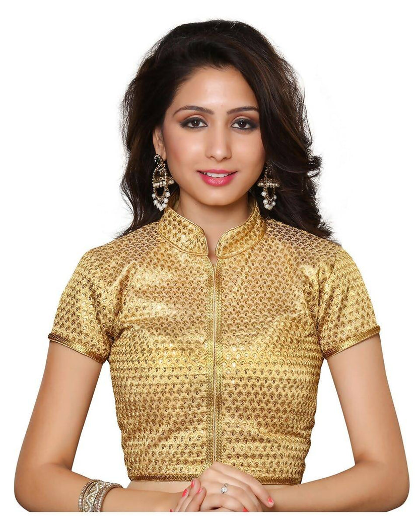 Melluha Gold Customizable Readymade Blouse