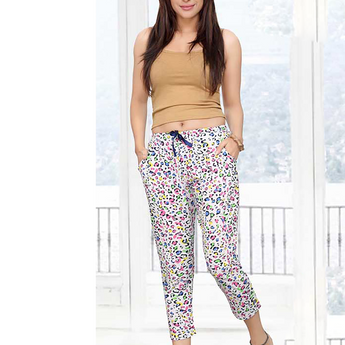 Women Chitah Multicolor Print Capri With Adjustable Waist-SW B 12