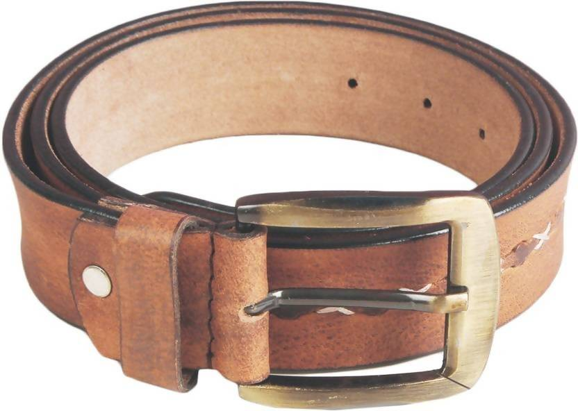 NUKAICHAU Men Casual Tan Genuine Leather Belt