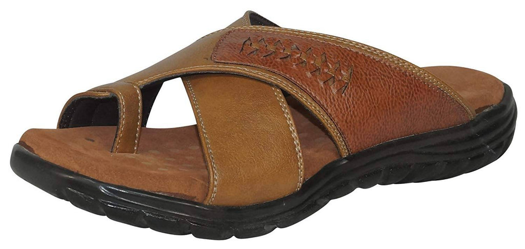 Medifeet Men Leather Beige Slip-On_MF-555-BEIGE